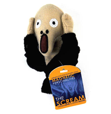 Edvard Munch's Scream Finger Puppet & Fridge Magnet