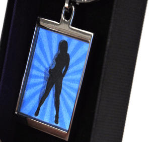 Animated Keyring - Retro Girl By Sonia Spencer Thumbnail 1