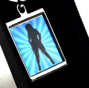 Animated Keyring - Retro Girl By Sonia Spencer Thumbnail 3