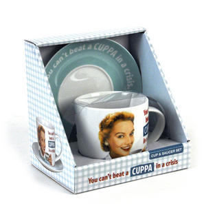 You Can't Beat A Cuppa In A Crisis' Cup & Saucer Set Thumbnail 2