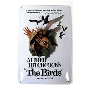 Hitchcock's The Birds Metal Plaque Thumbnail 2