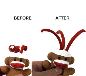 Sock Monkey Curly Pops Thumbnail 1