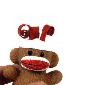 Sock Monkey Curly Pops Thumbnail 2