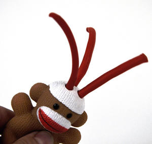Sock Monkey Curly Pops Thumbnail 6
