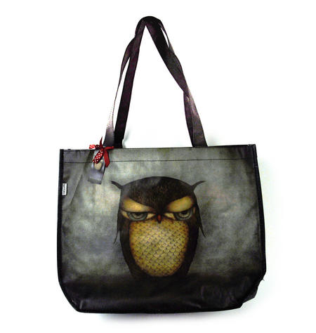 Night Owl Woven Shopper Bag