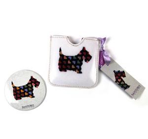 Scottie Dogs Compact Pocket Handbag Mirror