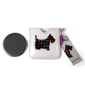 Scottie Dogs Compact Pocket Handbag Mirror Thumbnail 2