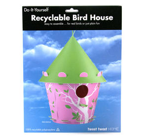 Diy Bird House - Pink Cone Branch Design Thumbnail 2