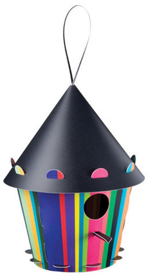 Diy Bird House - Cone Stripe Design Thumbnail 1