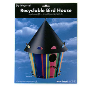 Diy Bird House - Cone Stripe Design Thumbnail 2