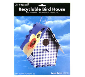 Diy Bird House - Gingham Purple Design Thumbnail 2