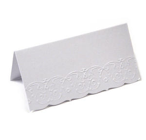 10 Deluxe White Placecards Thumbnail 2