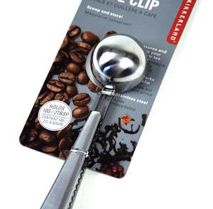 Café Bag Clip - Stainless Steel Coffee Measure Thumbnail 1