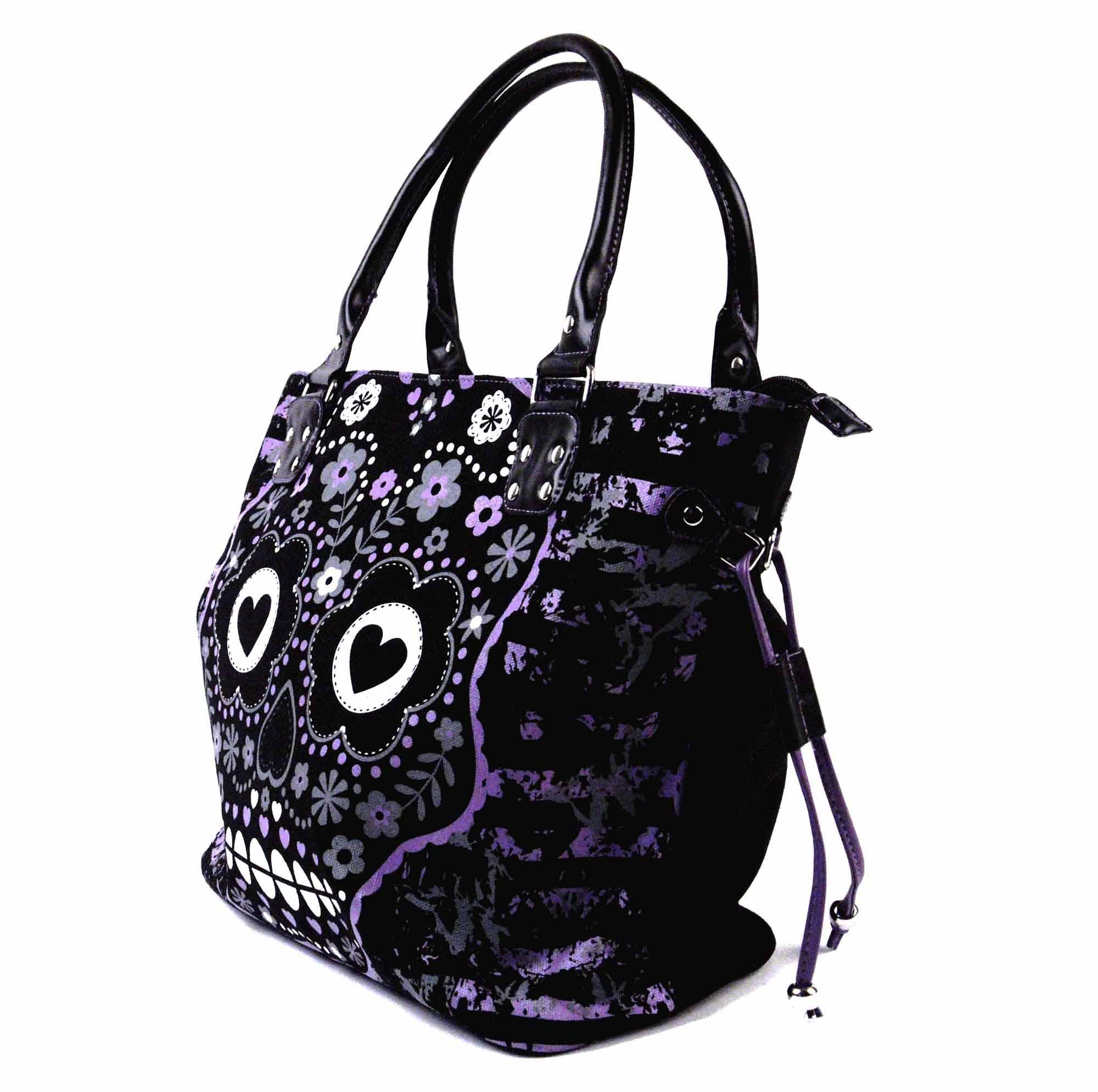 Purple Sugar Skull Bag Pink Cat Shop