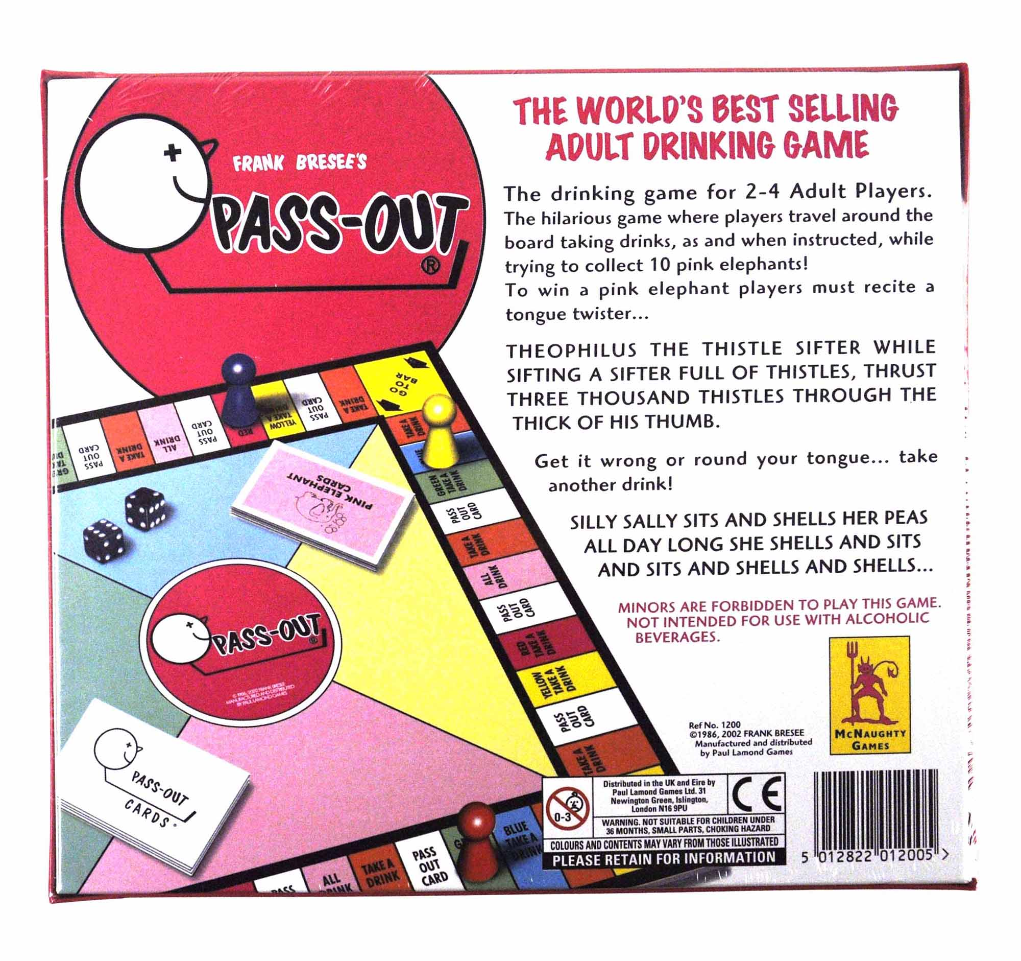 Pass Out The Drinking Game Pink Cat Shop