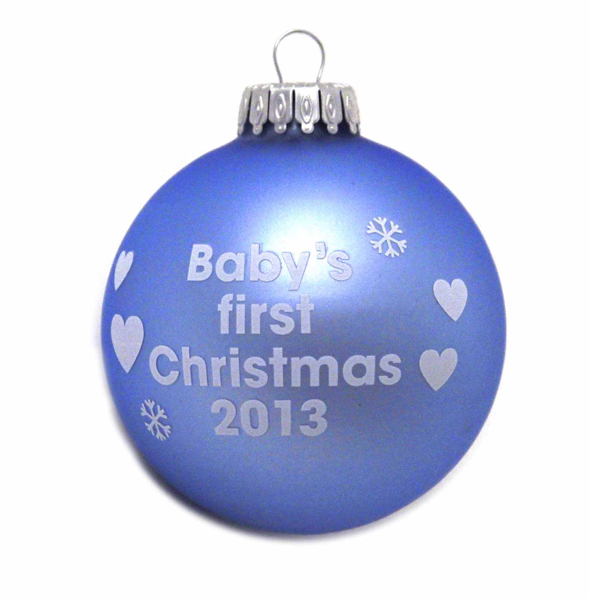 Christmas Blue Bauble - Baby's First Christmas 2013 Thumbnail 1 ...