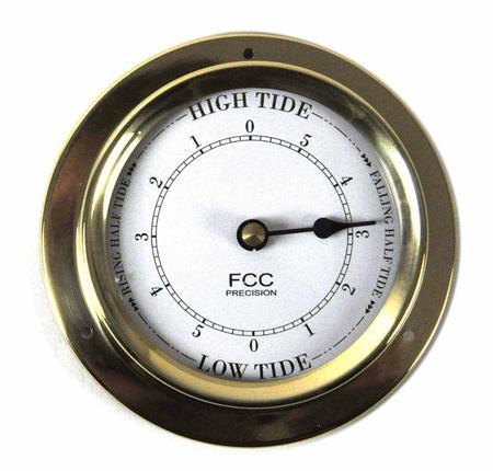 Classic Brass Tide Clock 110Mm 1506Td