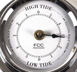 Classic Chrome Tide Clock 125Mm 1508Tdch Thumbnail 2