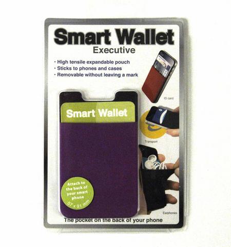 Smart Wallet - Purple Neoprene Phone Pocket