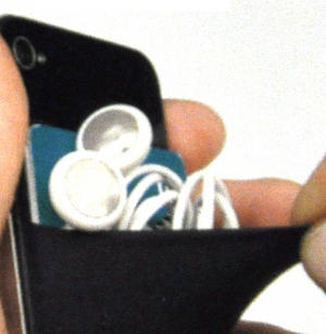 Smart Wallet - Purple Neoprene Phone Pocket Thumbnail 3
