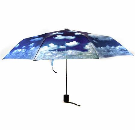 Blue Sky Foldaway Pop Up Compact Umbrella