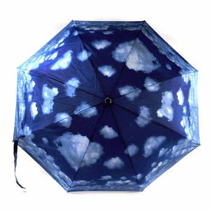 Blue Sky Foldaway Pop Up Compact Umbrella Thumbnail 4