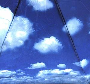Blue Sky Foldaway Pop Up Compact Umbrella Thumbnail 5