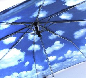 Blue Sky Foldaway Pop Up Compact Umbrella Thumbnail 8