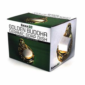 Golden Buddha Ceramic Soap Dish Thumbnail 4
