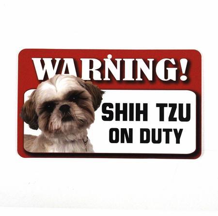 Dog Warning Sign - Beware Shih Tzu