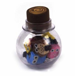 Little Owls Bottle Of Erasers Thumbnail 2