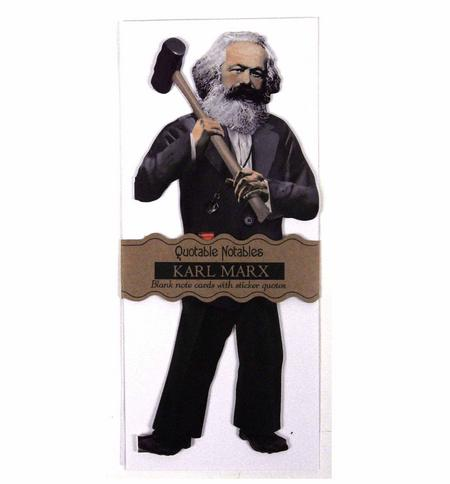Karl Marx - Quotable Notable ? Card & Stickers Set