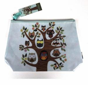 Owl Tree Feathered Friends Make Up Bag / Wash Bag / Pencil Case Thumbnail 1