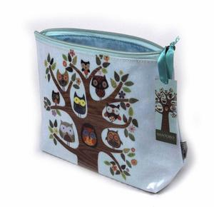 Owl Tree Feathered Friends Make Up Bag / Wash Bag / Pencil Case Thumbnail 2