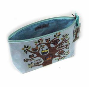Owl Tree Feathered Friends Make Up Bag / Wash Bag / Pencil Case Thumbnail 3