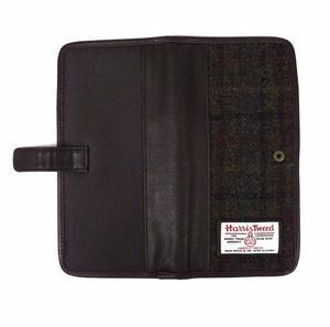 Harris Tweed Green Travel Documents Wallet / Organiser Thumbnail 2