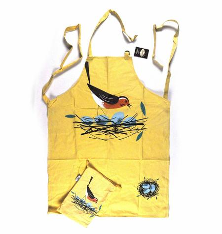Robin Birdy Apron By Magpie