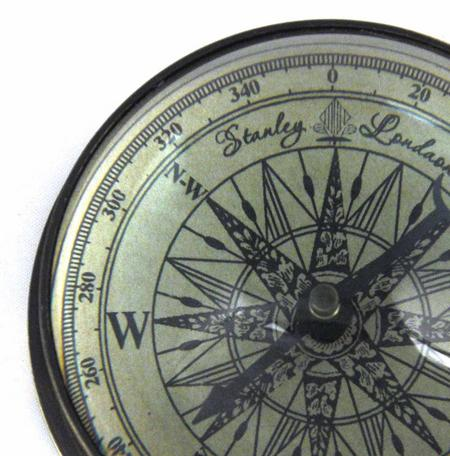 Marine Directional Compass Domed Paperweight