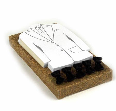 Tuxedo Memo Pad & Bow Tie Pins