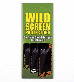 3 X Wild Screen Protectors For Iphone 5 Thumbnail 1