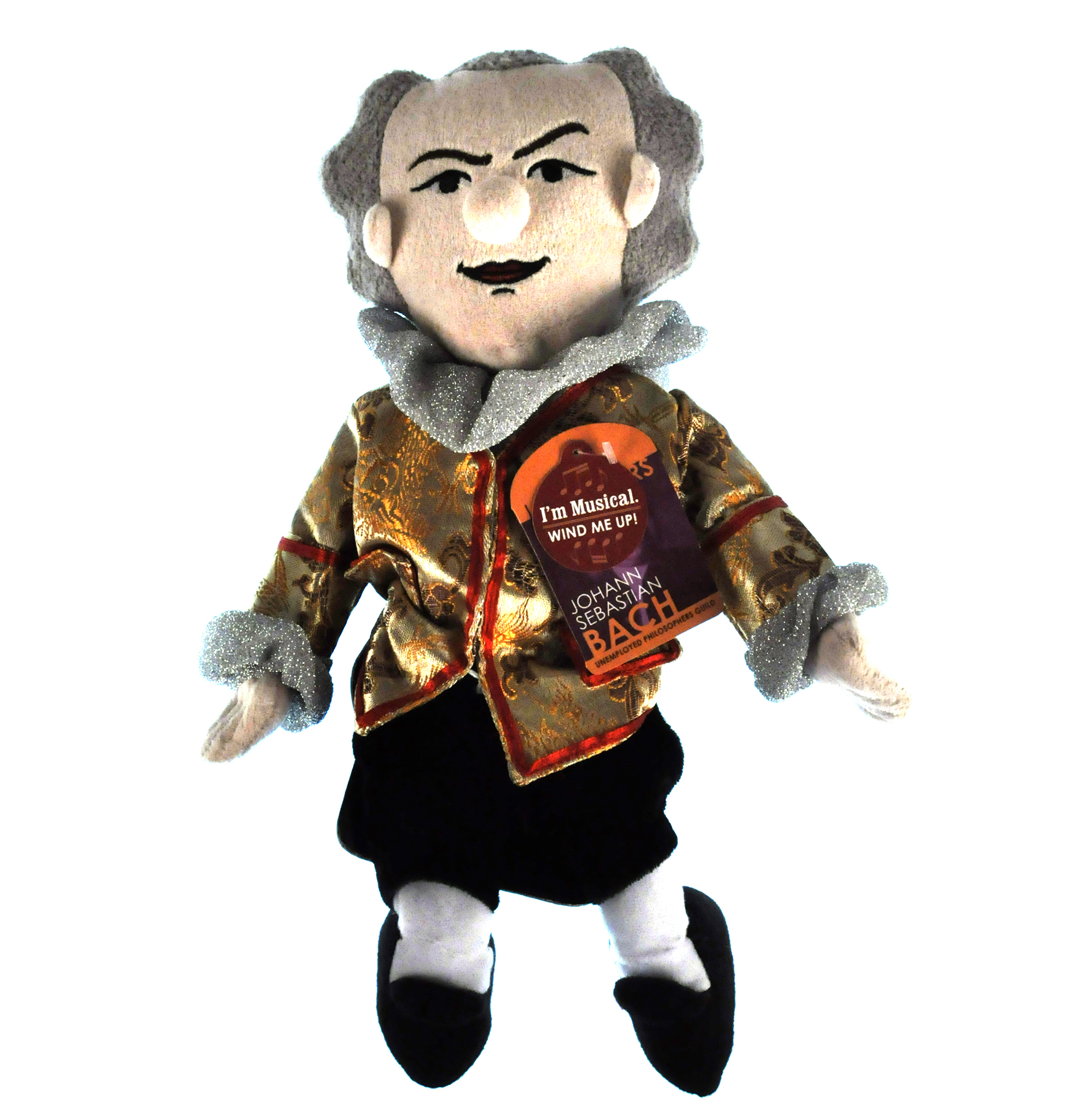 Johann Sebastian Bach piccolo PENSATORE giocattolo morbido-suona musica