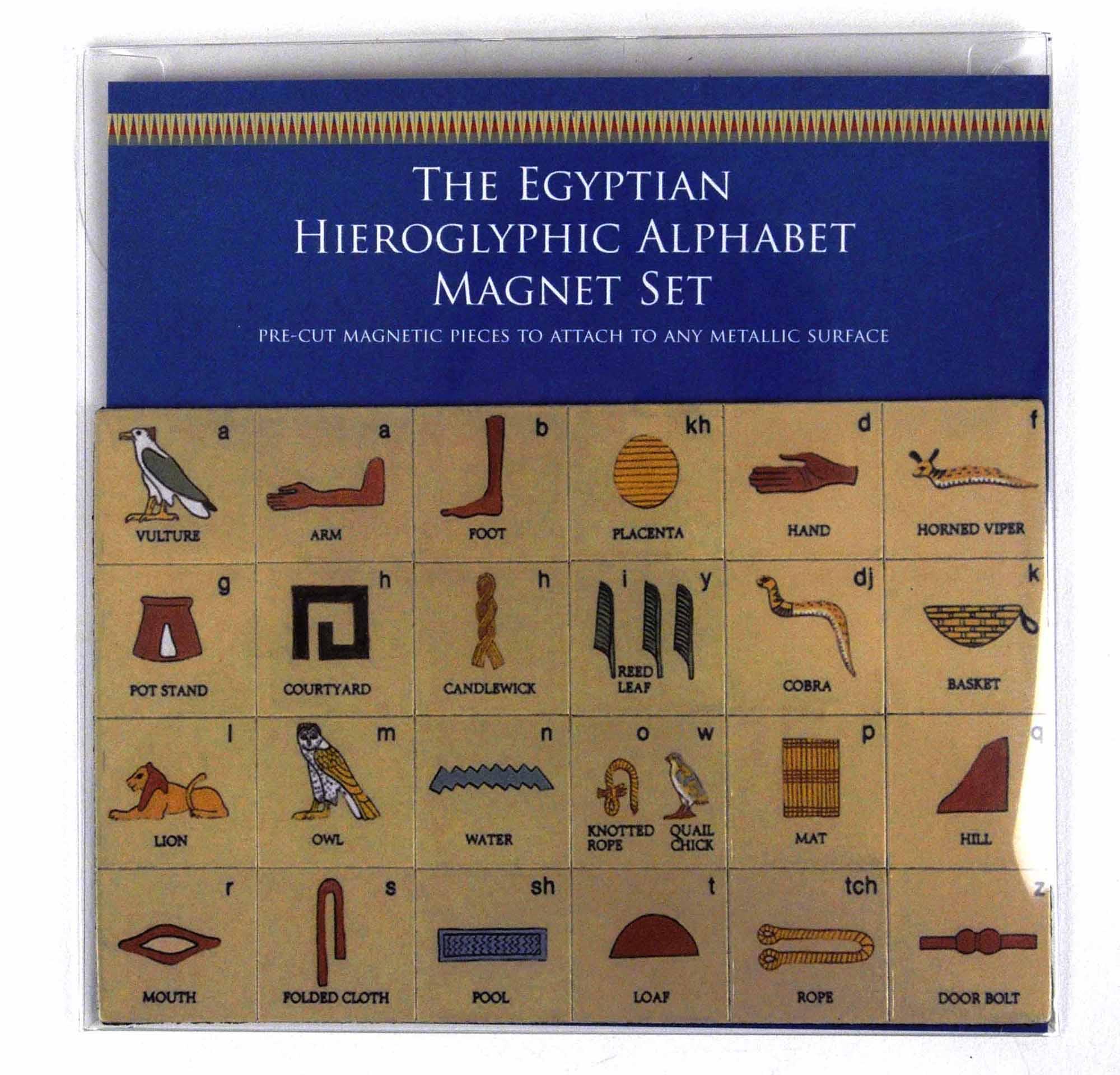 Egyptian Heiroglyphics Alphabet Magnet Set