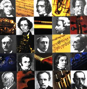 Magnetic Composers -  Fridge Magnets Thumbnail 1