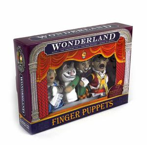 Wonderland Finger Puppet Play Set - Alice, Queen Of Hearts, Cheshire Cat & Mad Hatter Fridge Magnets Thumbnail 2