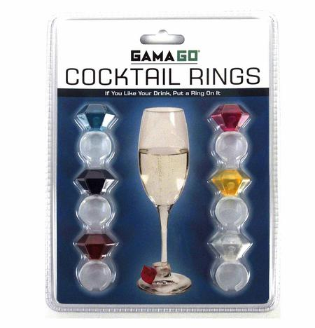Cocktail Rings - Super Bling Cocktail Glass Decor