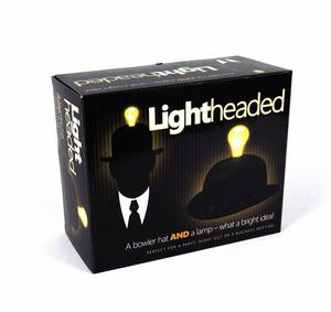 Lightheaded - Bowler Hat With Built In Light Bulb Lamp Thumbnail 2