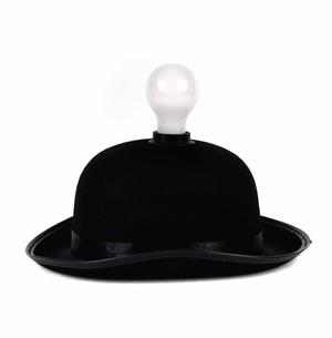Lightheaded - Bowler Hat With Built In Light Bulb Lamp Thumbnail 6