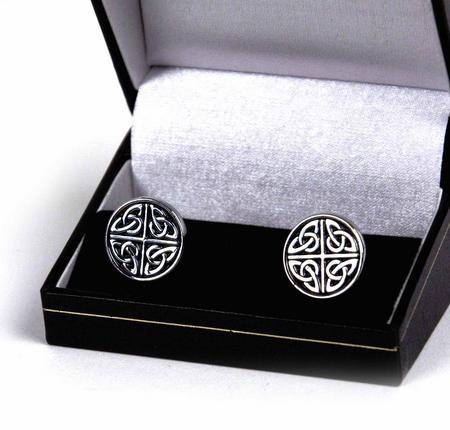 Cufflinks - Celtic Quartered Circle