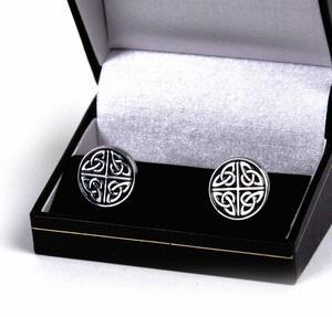 Cufflinks - Celtic Quartered Circle Thumbnail 1