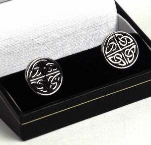 Cufflinks - Celtic Quartered Circle Thumbnail 2